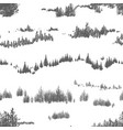 seamless pattern with hand drawn woodland trees vector image