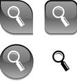 Searching glossy button vector image vector image