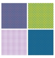 Set of 4 abstract geometrical seamless patterns vector image vector image