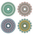 set of color floral mandalas vector image vector image