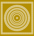 set Traditional vintage golden square and round vector image