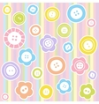 Sewing buttons on fabric background vector image