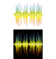sound banner color logo equalizer vector image vector image