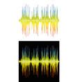 sound banner color logo equalizer vector image