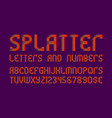 splatter letters and numbers with currency signs vector image vector image