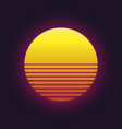 sunset icon vector image vector image