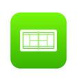 tennis court icon digital green vector image vector image