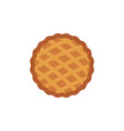 thanksgiving pie flat icon vector image vector image