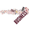 the business side of craft shows text background vector image vector image
