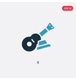 two color s icon from music concept isolated blue vector image vector image