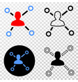 user links eps icon with contour version vector image vector image