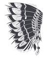 war bonnet american indians vector image