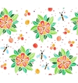 watercolor pattern with flowers vector image vector image
