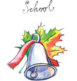 Watercolor school bell