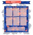 weekly coral flamingo vector image vector image
