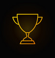 winner cup golden icon or symbol in thin vector image vector image