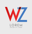 wy logo letters with blue and red gradation vector image vector image