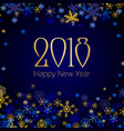 2018 happy new year and merry christmas greeting vector image