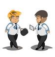 businessmans in black suit vector image