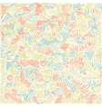 colorful abstract doodle background vector image