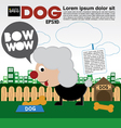 Little Dog With Bone Cookie EPS10 vector image