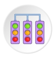 Traffic light icon flat style vector image