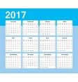 Calendar Week starts on Monday vector image