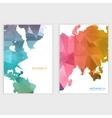 design color triangles vector image