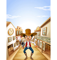 A gunman at the village vector | Price: 1 Credit (USD $1)
