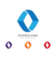 a letter logo business template icon vector image vector image
