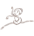 A plain sketch of a ballet dancer vector image vector image