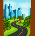 a road to the city vector image vector image