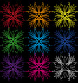 a set of colors from geometric lines in different vector image vector image