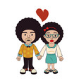 afro style person character vector image vector image