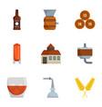 alcohol distillation icons set cartoon style vector image