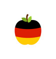 apple germany flag german national fruit vector image vector image