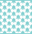 background pattern with bells vector image vector image