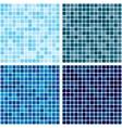 background Tiled blue mosaic Set Eps 10 vector image