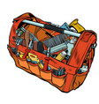 bag with working tools vector image vector image