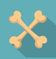 bone icon flat style vector image