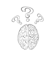 Brain with question mark vector image