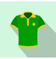 brazilian yellow and green soccer shirt icon vector image