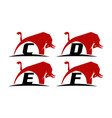 bull power template set vector image