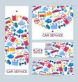 car repair service business flyer template set vector image
