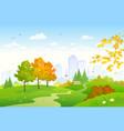 cartoon autumn park vector image