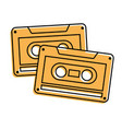 cassettes recorder tape music vintage vector image vector image