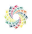 chicken bird footprint spiral design element vector image