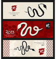 Chinese New Year of the Snake banners vector image vector image