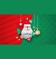 christmas card 3d icons and santa ornament vector image