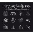 Christmas Drawn vector image vector image